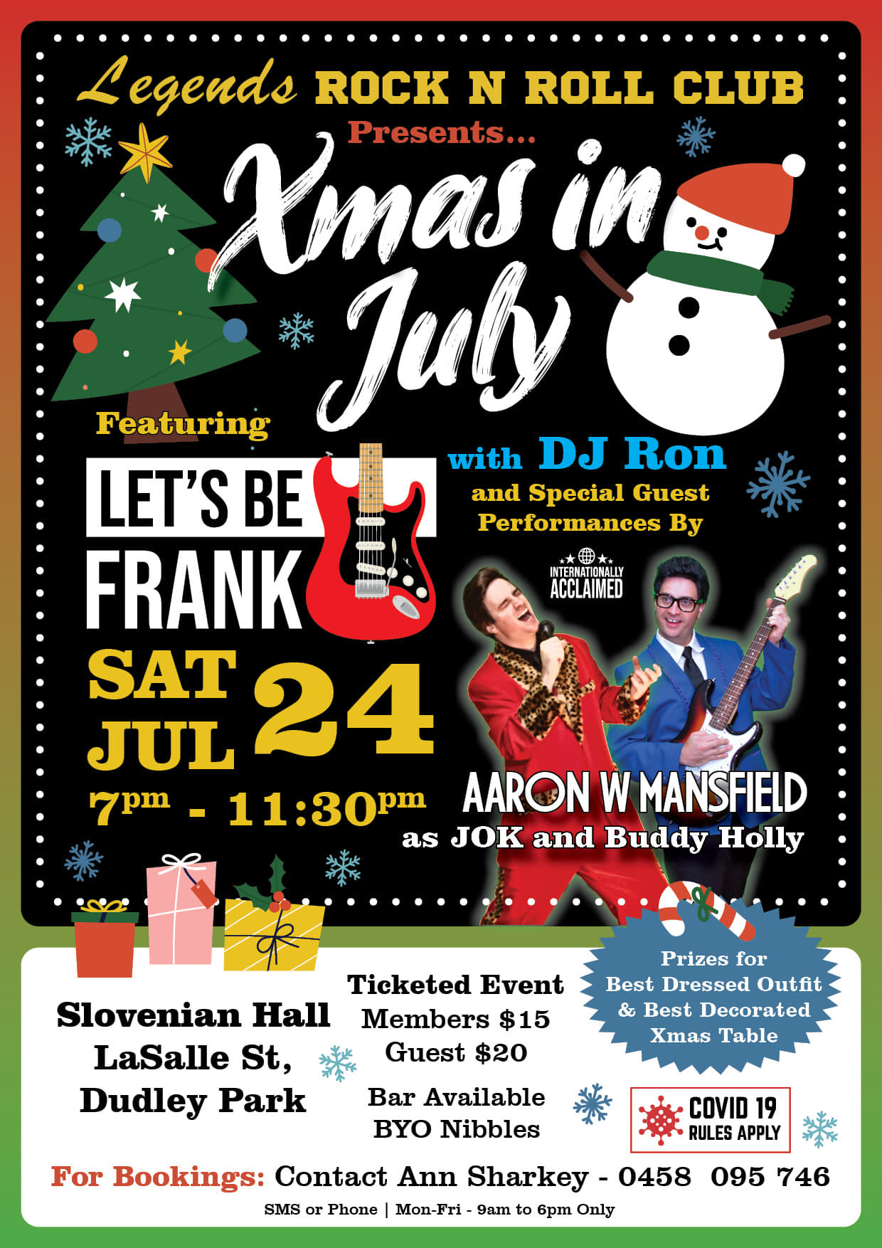 Legends Christmas in July Dance 2021.